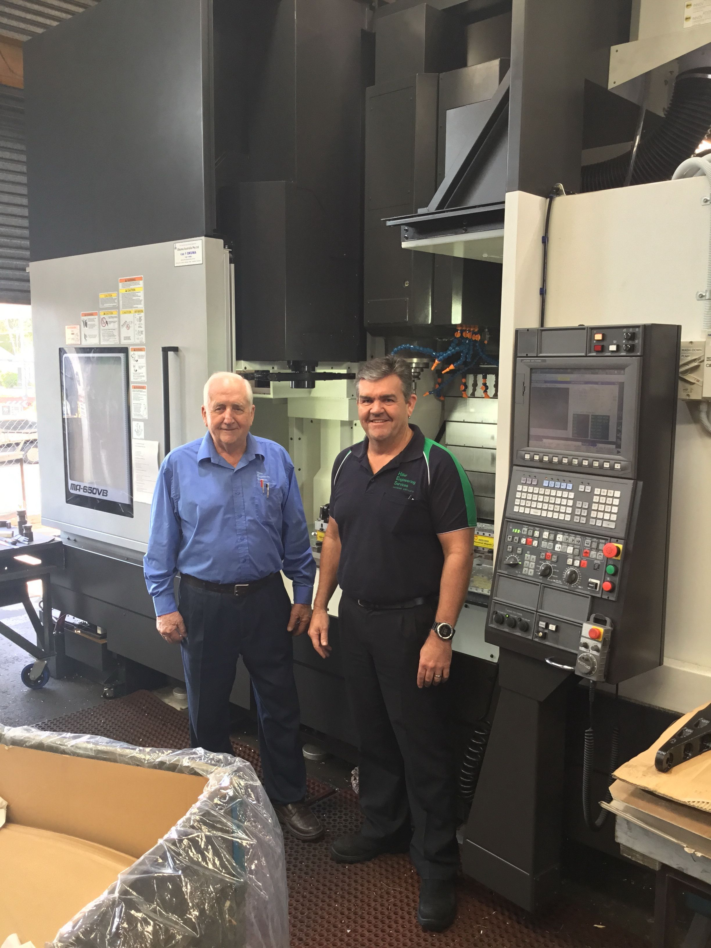 Ray Hillier (left) and John Hillier from Hillier Engineering